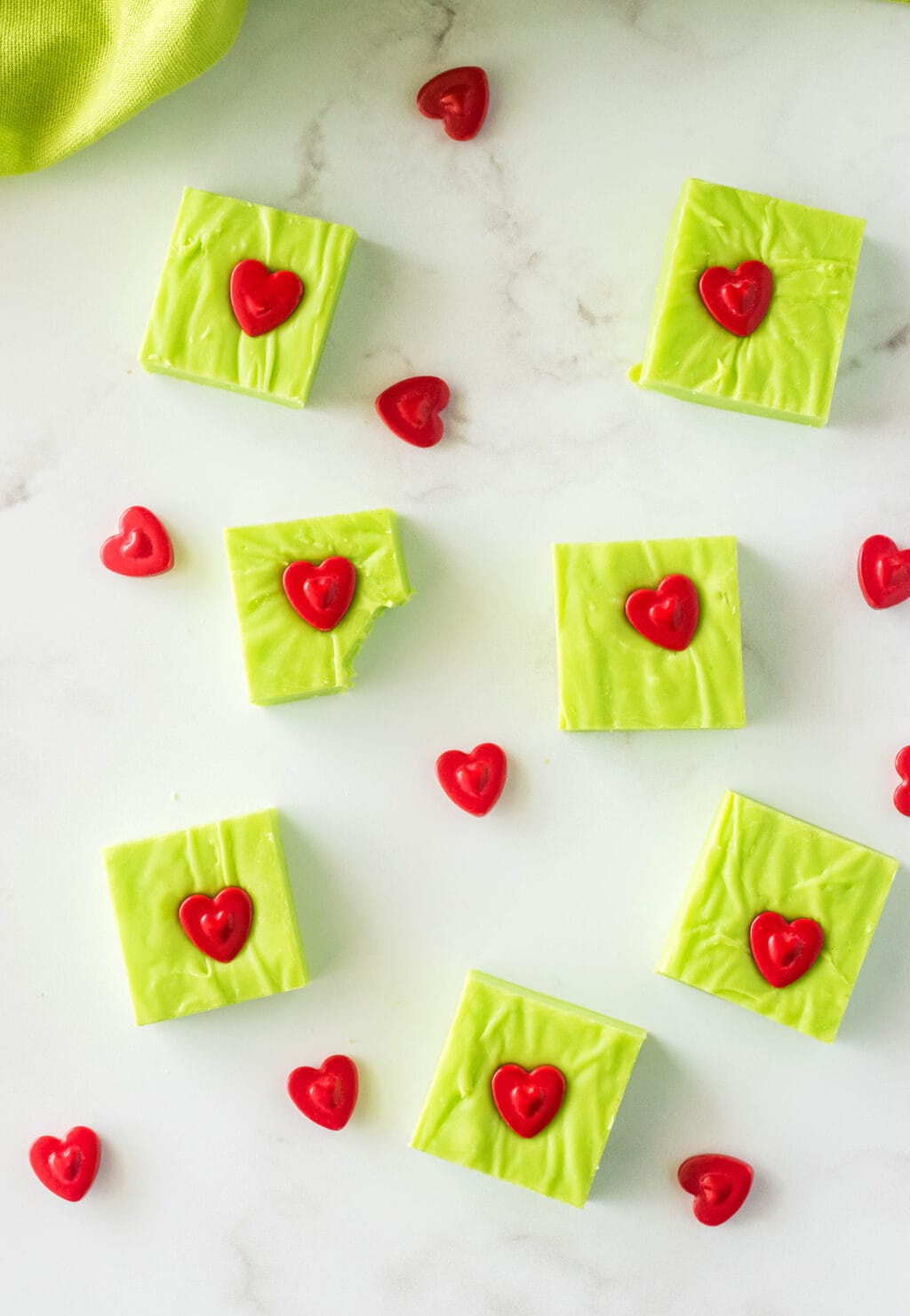 grinch fudge on table