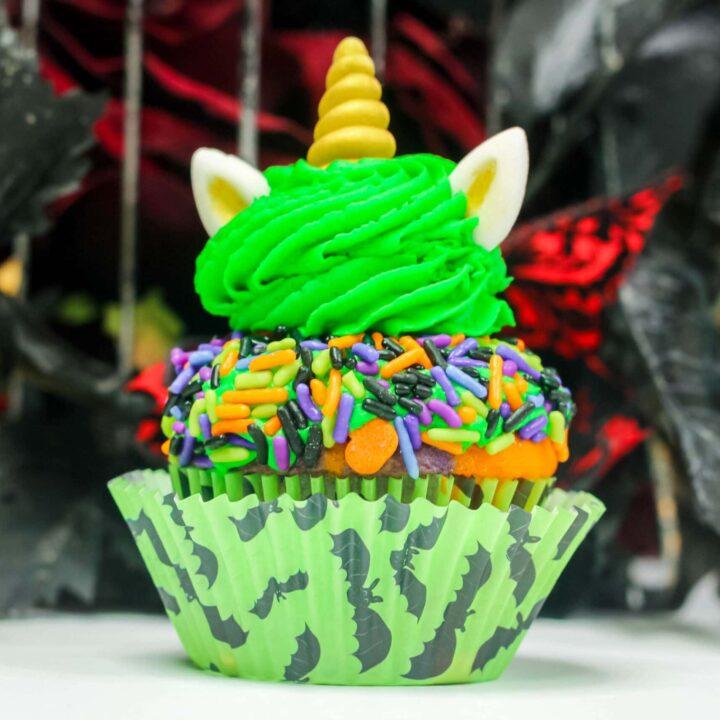 Halloween Unicorn Cupcakes
