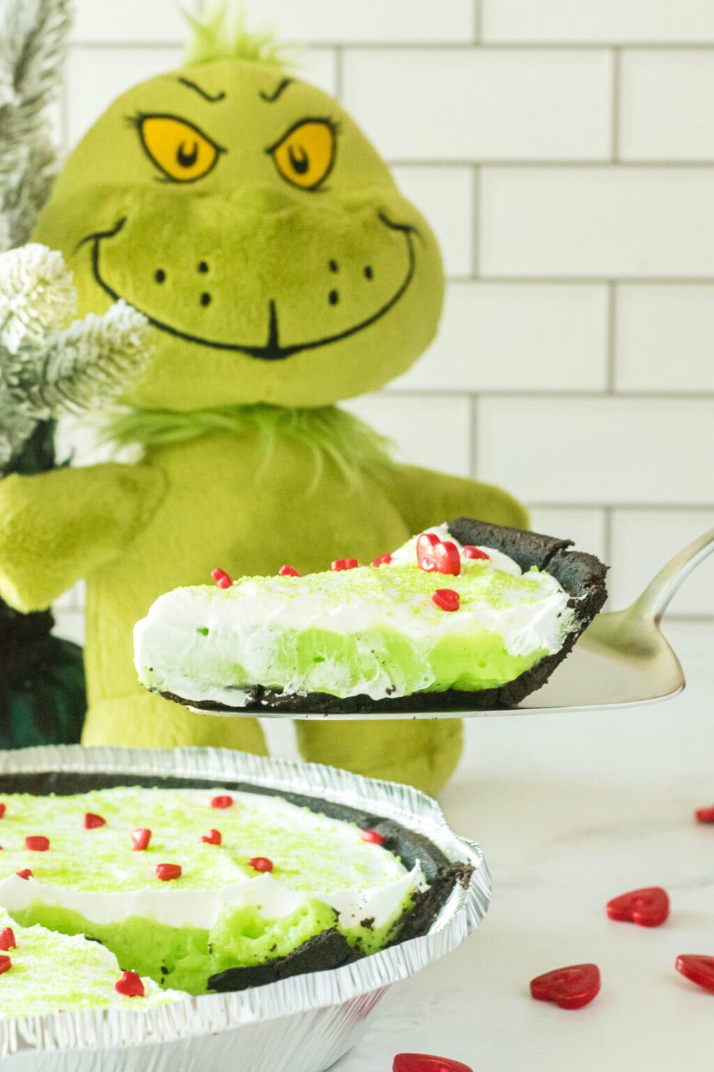 grinch piece of pie being served