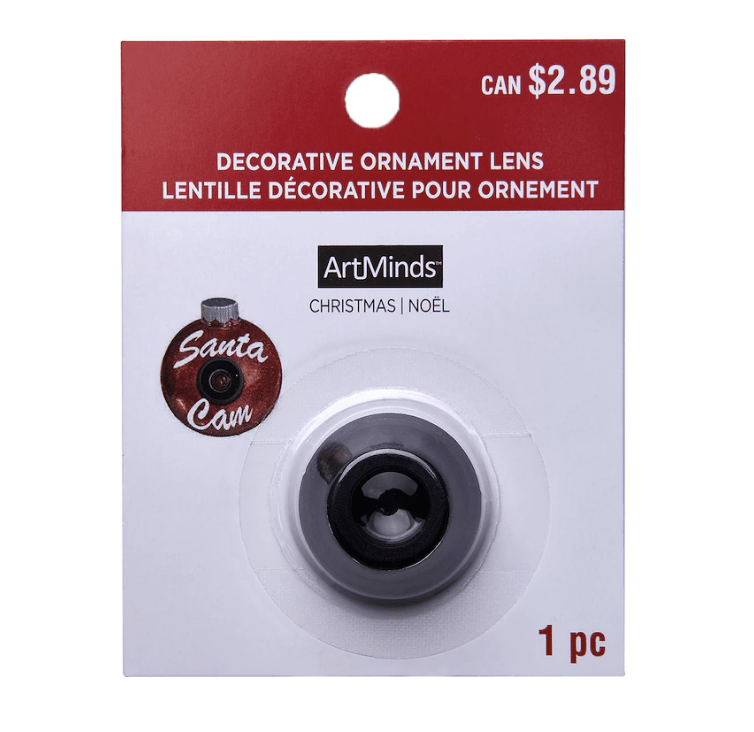 "Decorative Ornament Santa Cam Lens by ArtMinds"""