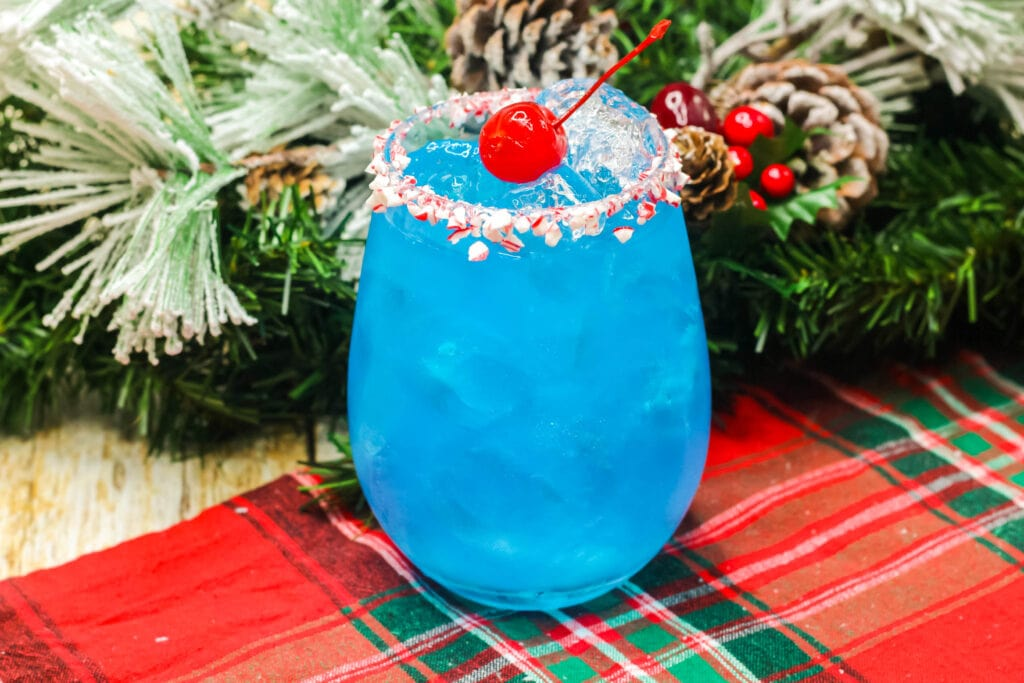 frosty the snowman cocktail in glass