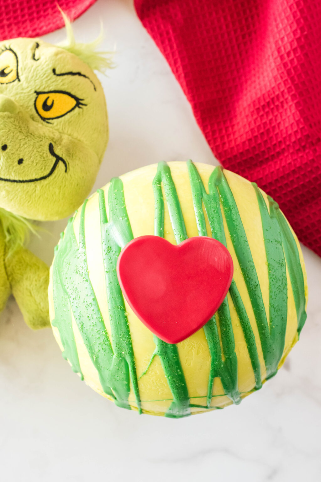 giant grinch hot cocoa bomb