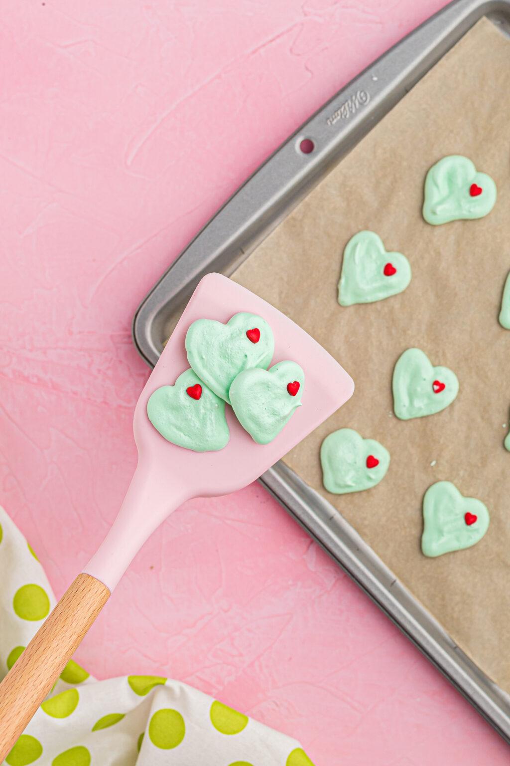 grinch meringue cookies baked