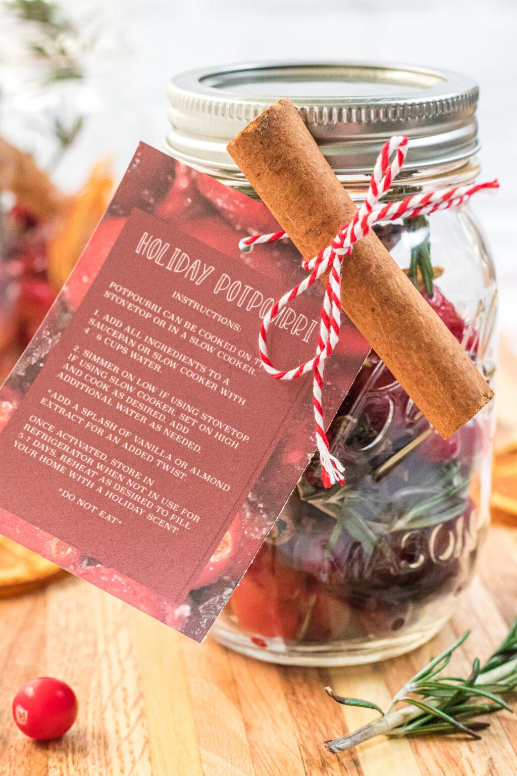 homemade holiday potpourri gift for christmas