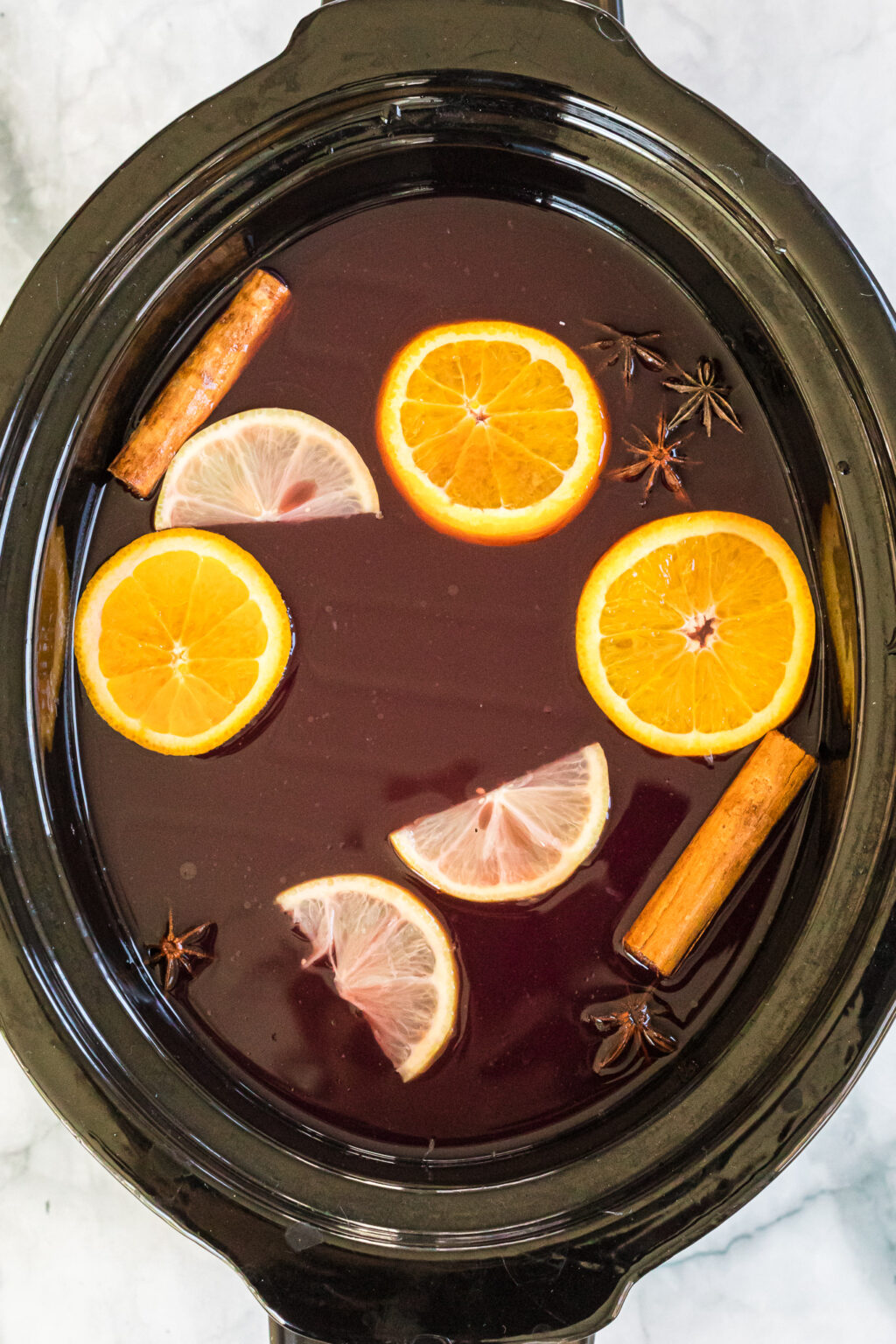 wassail in a slow cooker