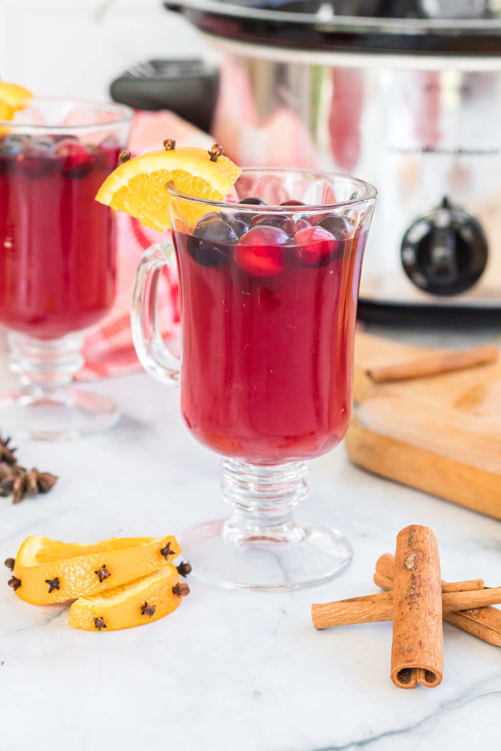 slow cooker wassail in a cup