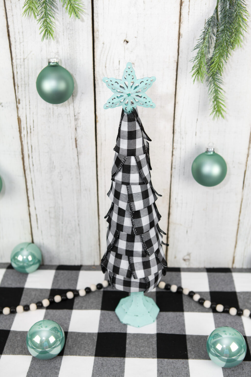 How to Make A DIY Buffalo Plaid Cone Tree