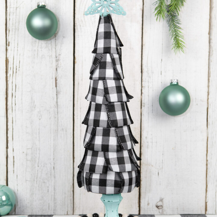 DIY Buffalo Plaid Cone Tree
