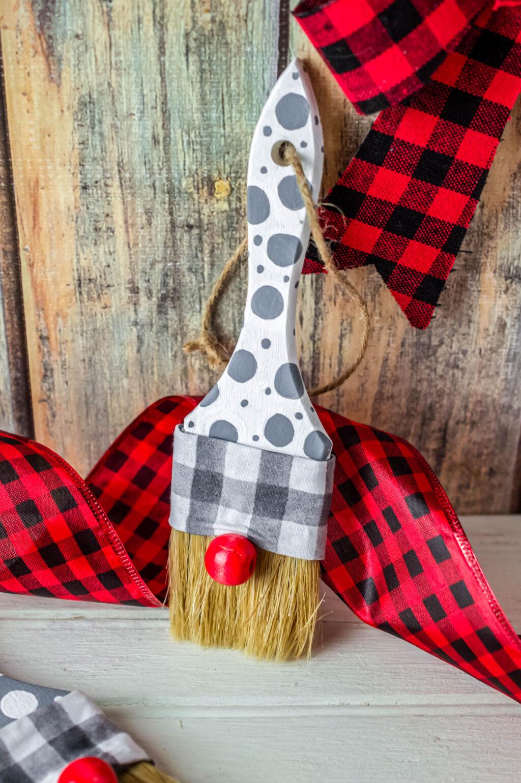 Gnome Paintbrush Ornament