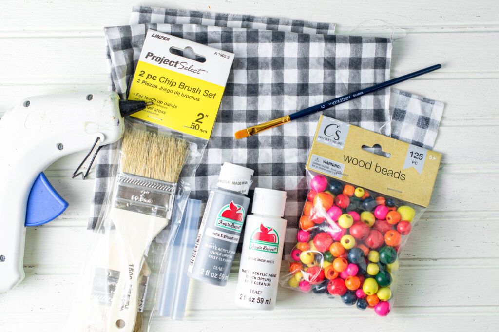 Gnome Paintbrush Ornament supplies