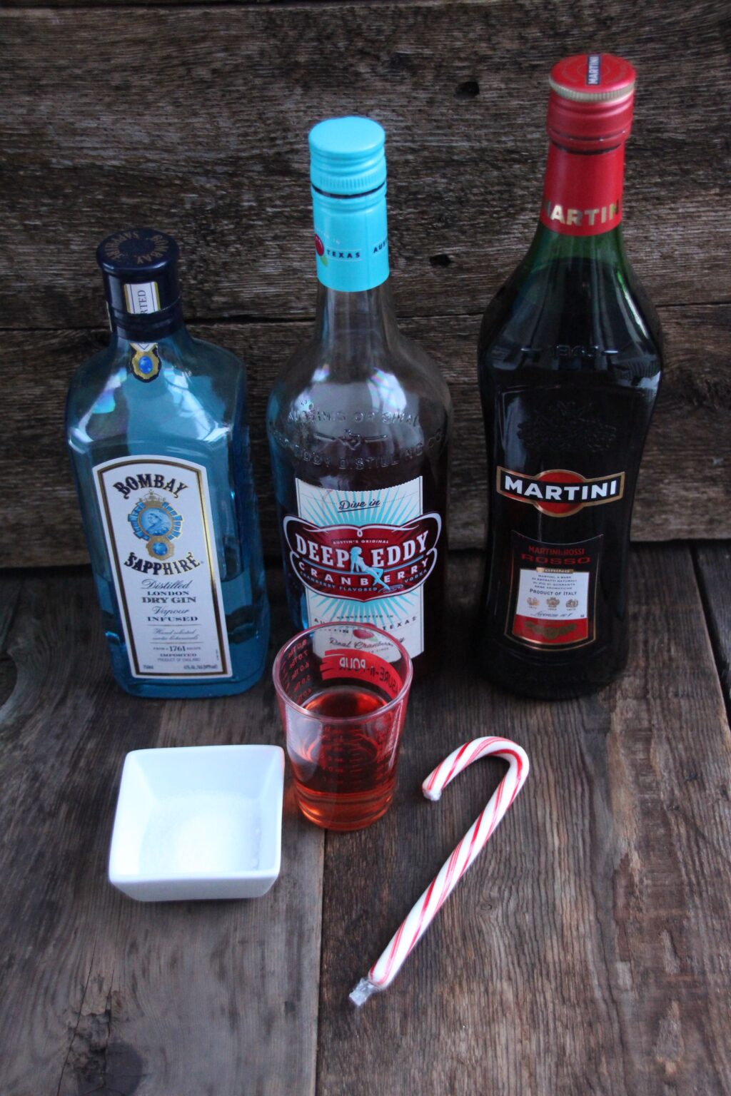 how to make a Cranberry Peppermint Martini ingredients