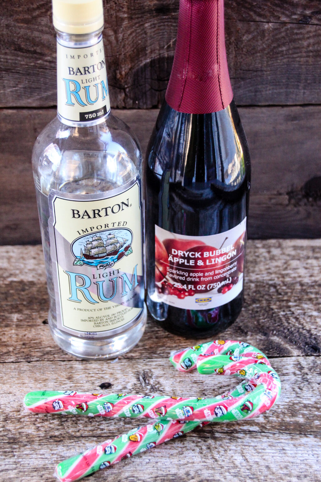 Red Yuletide Rum ingredients
