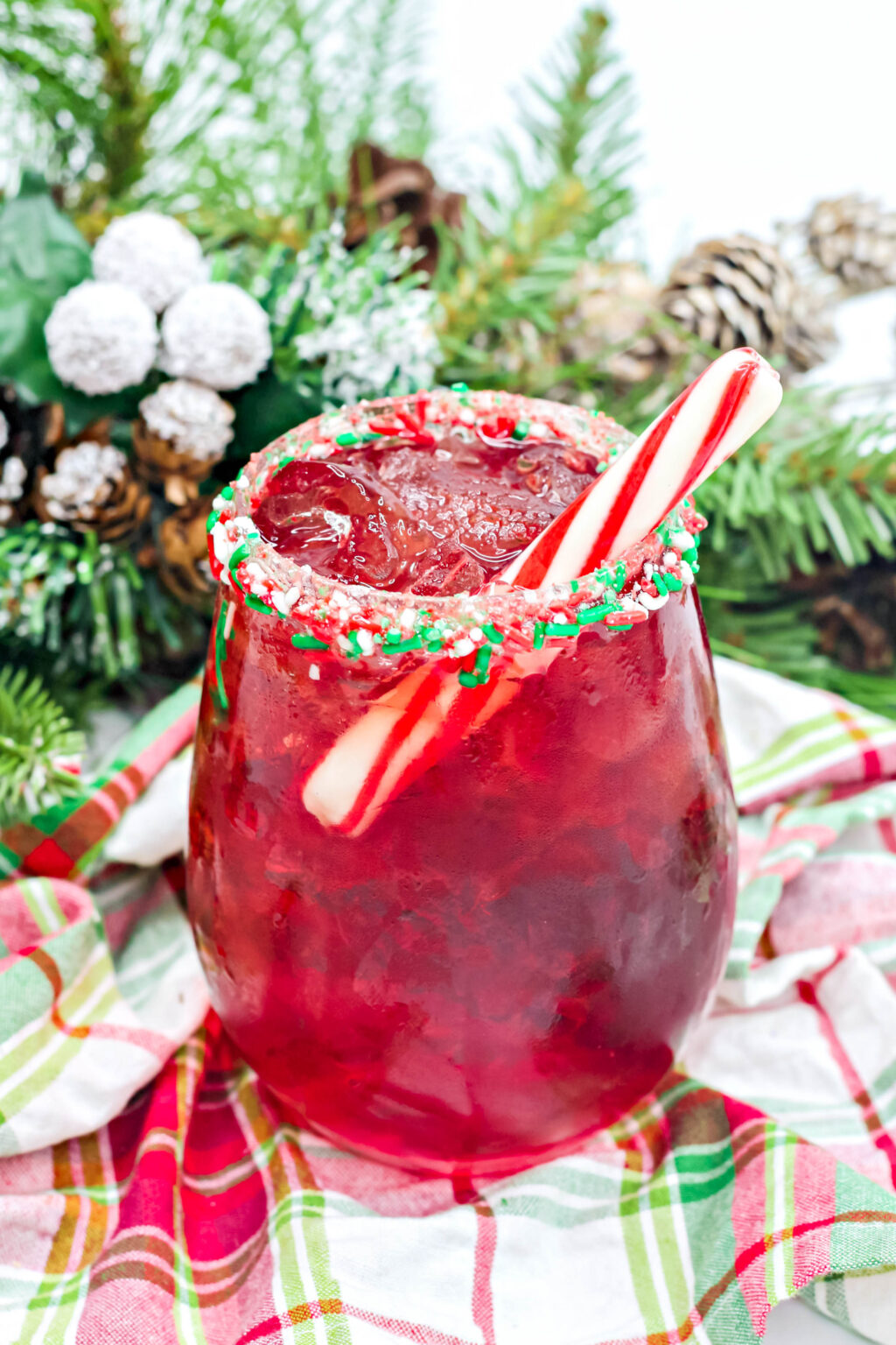 santa claus cocktail in a cup
