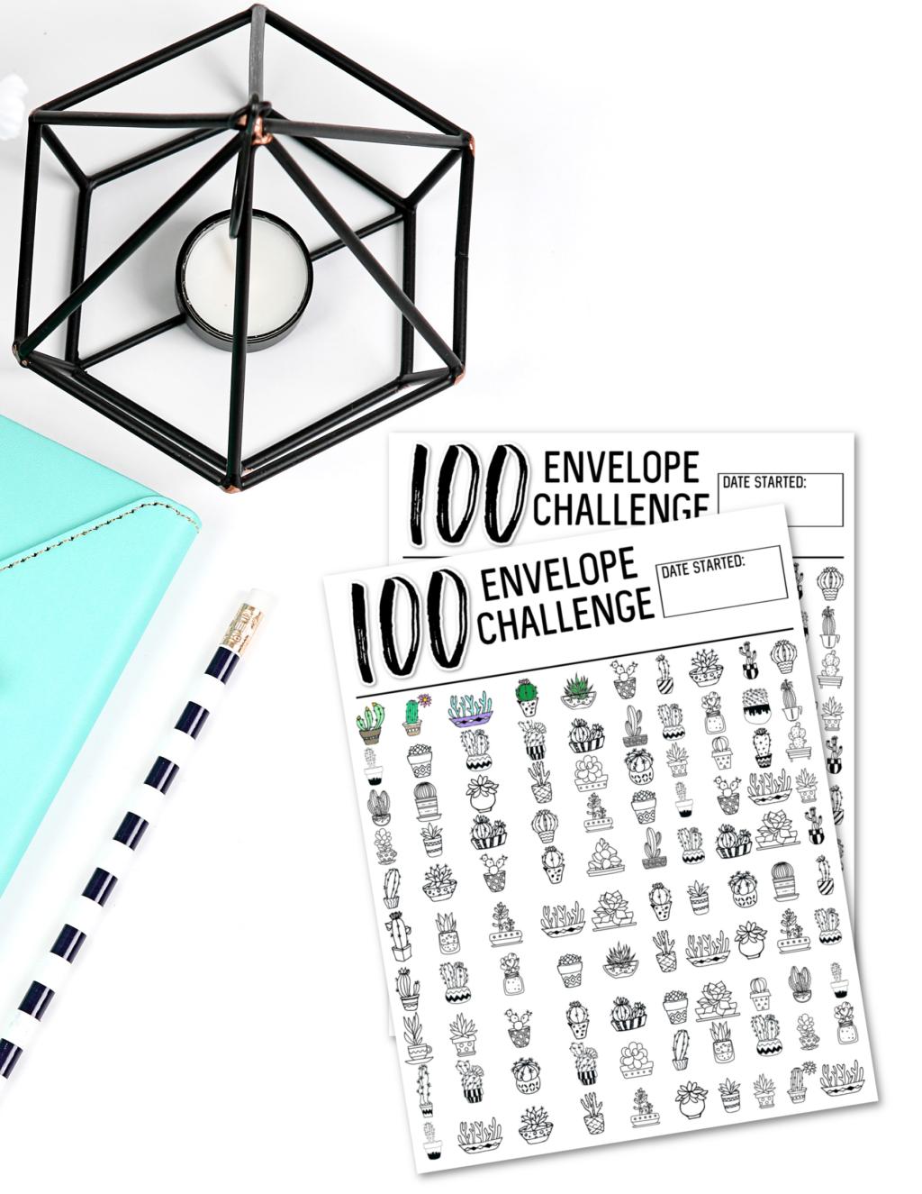 100 day envelope challenge chart