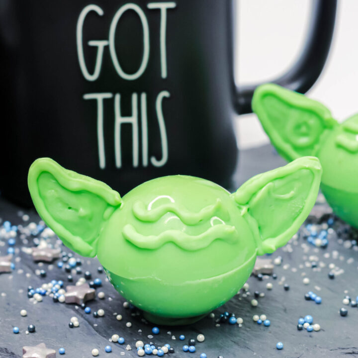 Baby Yoda Hot Cocoa Bombs