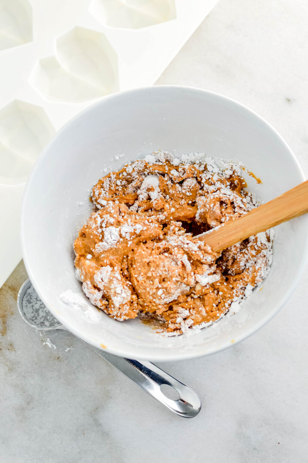 homemade peanut butter filling in a bowl