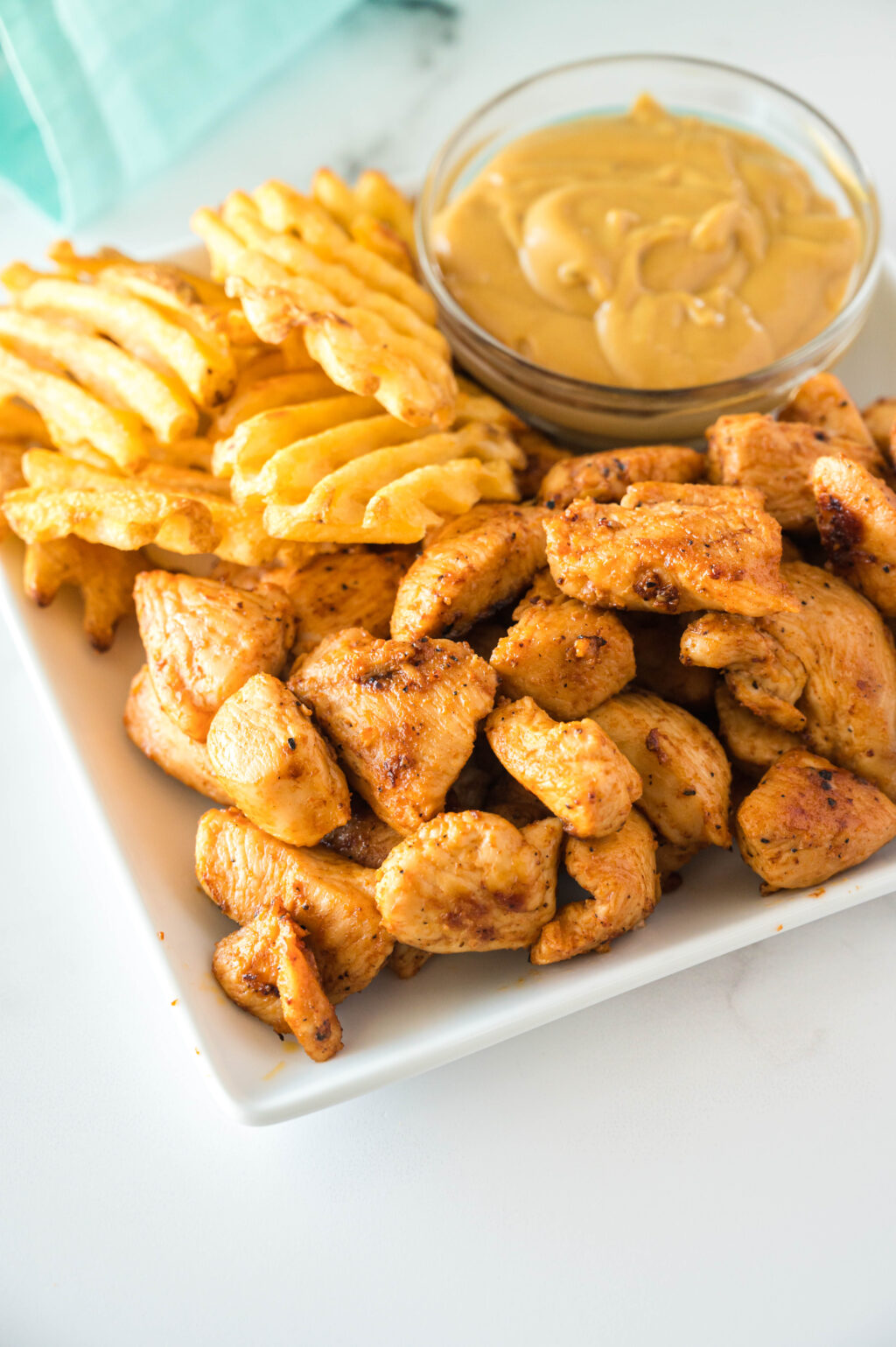 copycat chick-fil-a grilled nuggets on a plate