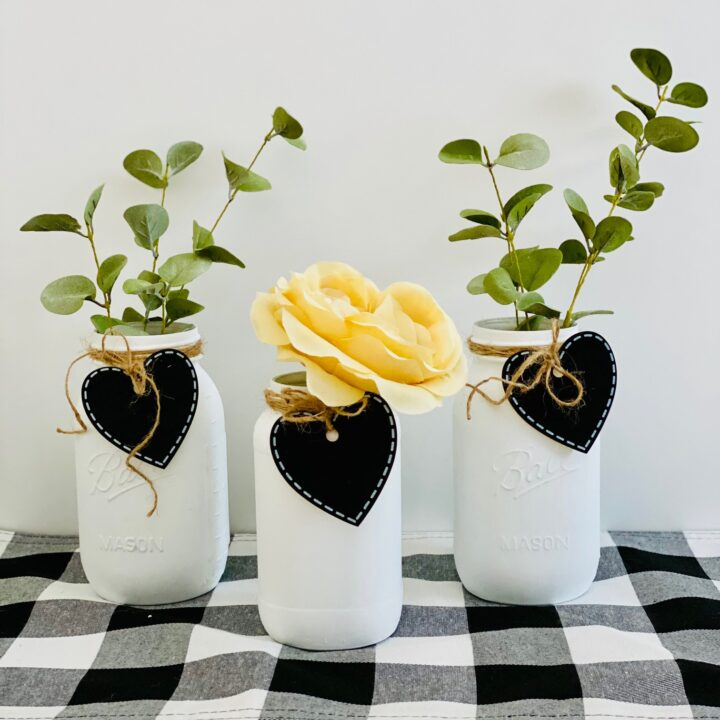 Valentine Farmhouse Mason Jars