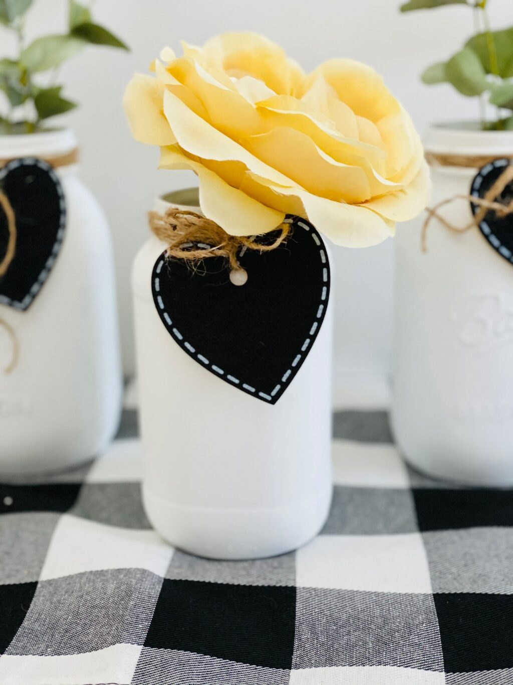 valentine farmhouse mason jar