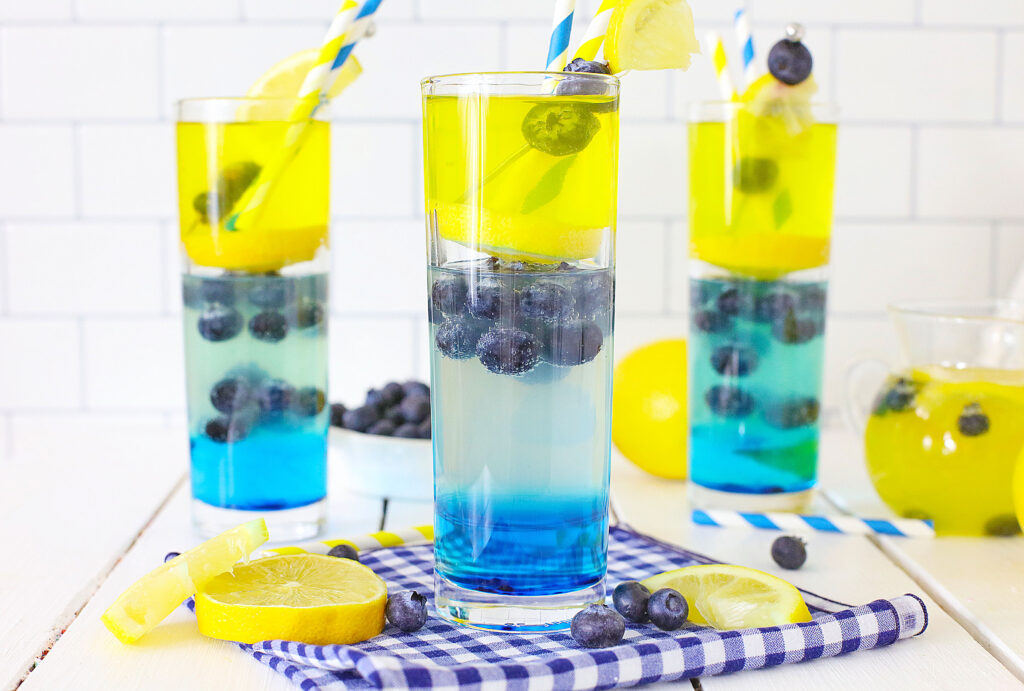 blueberry vodka lemonade on table