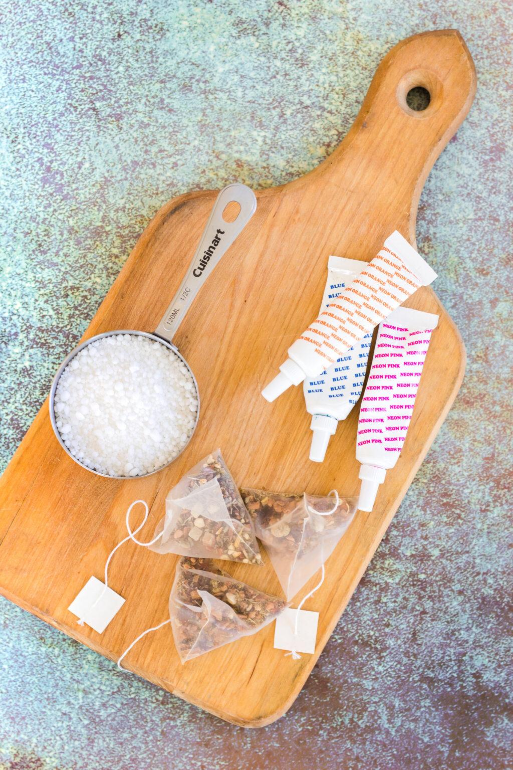 tea bomb ingredients on table