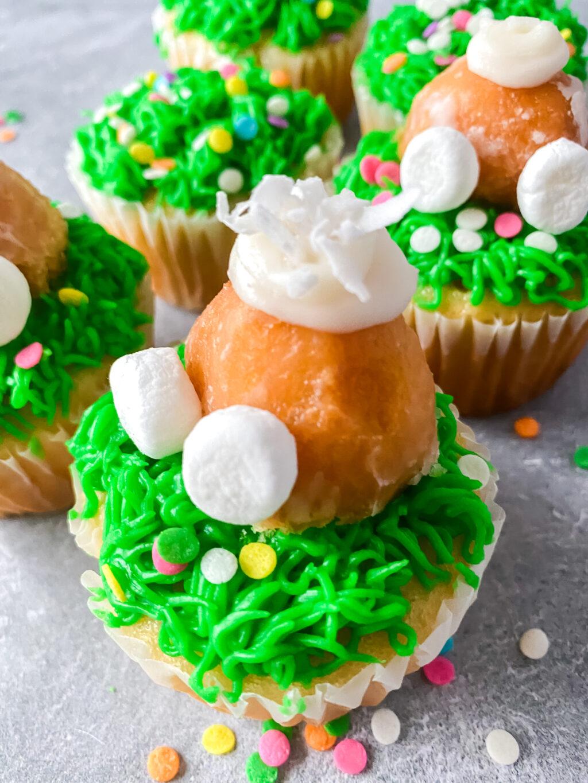 bunny butt cupcake up close