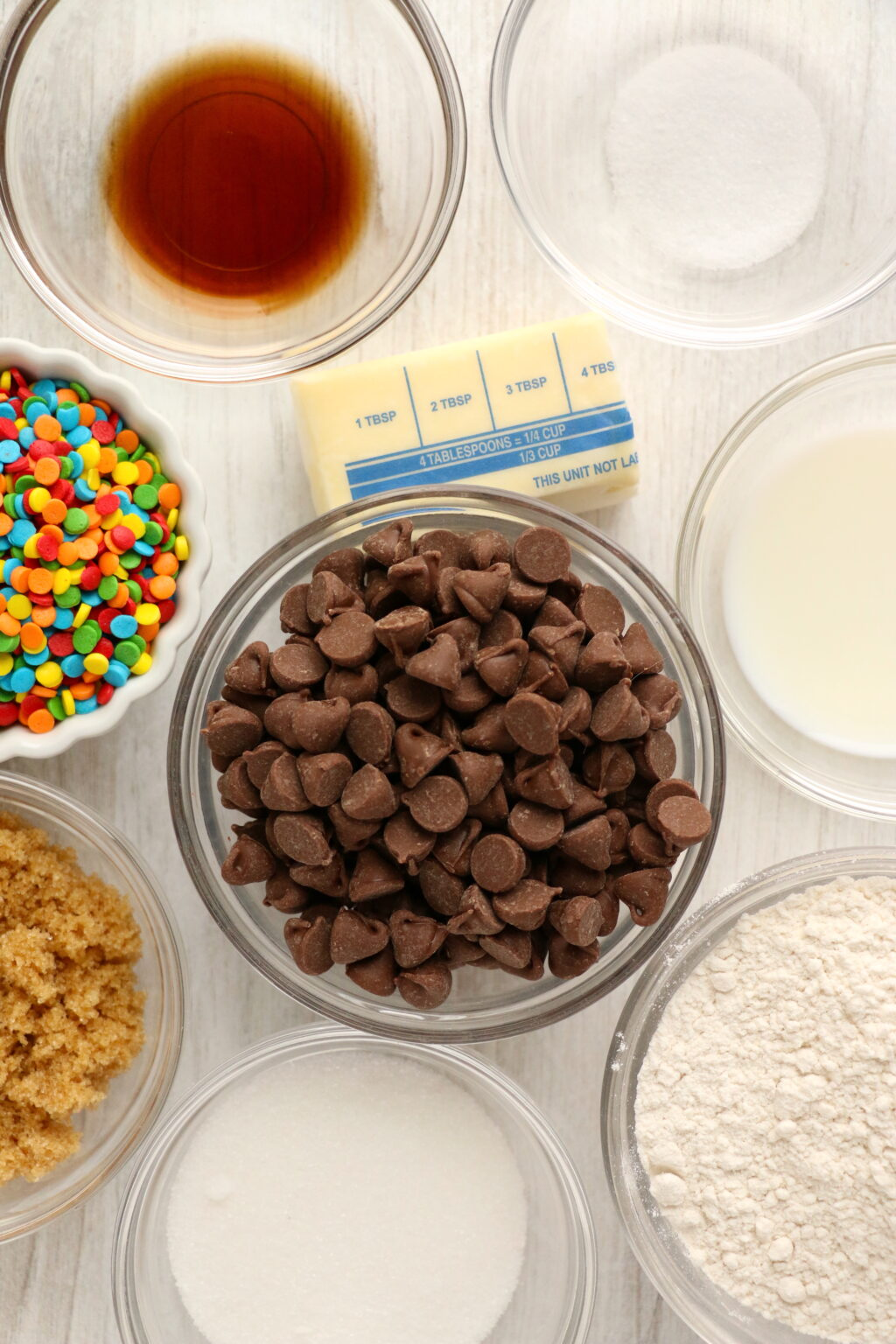 edible chocolate chip cookie dough ingredients