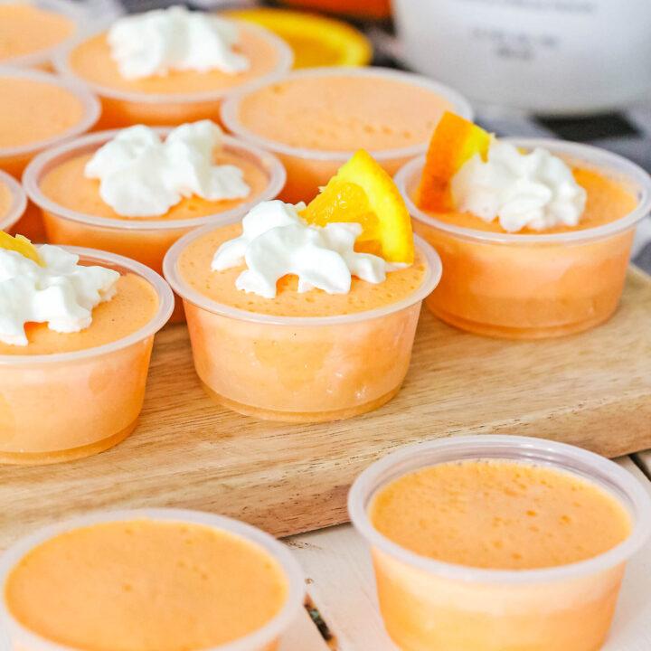 Orange Creamsicle Jello Shots