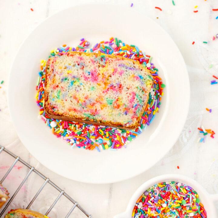 Funfetti Ice Cream Bread