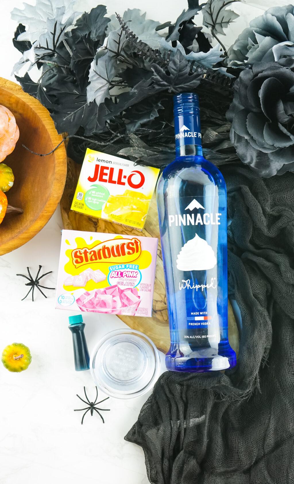 sally jello shot ingredients on table