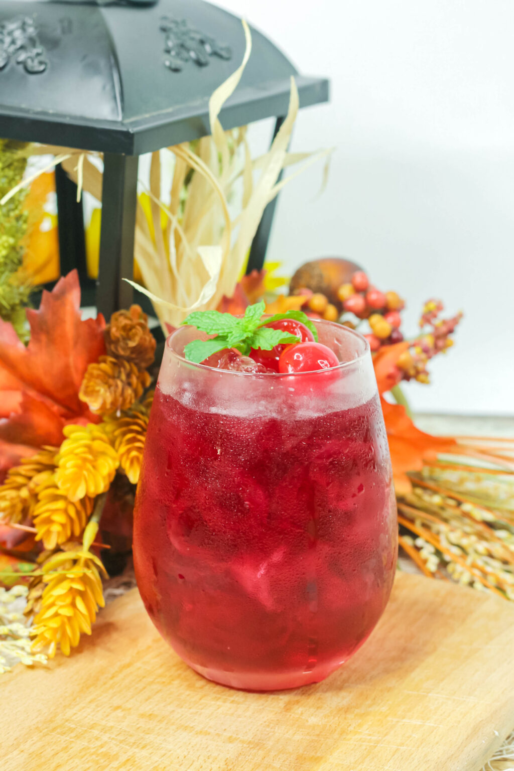 autumn harvest cocktail in a glass