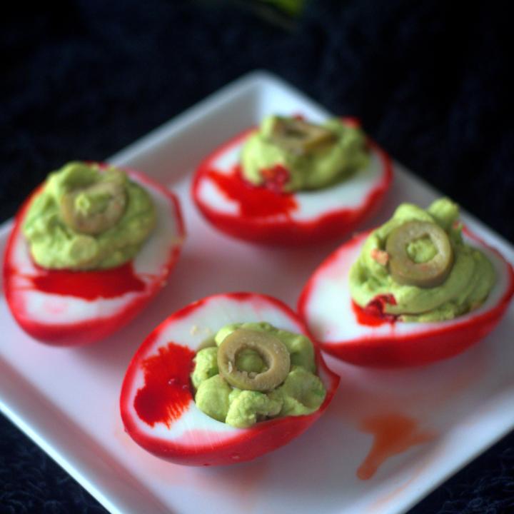 Eyeball Deviled Eggs