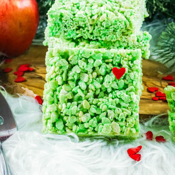Grinch Rice Krispies Treats