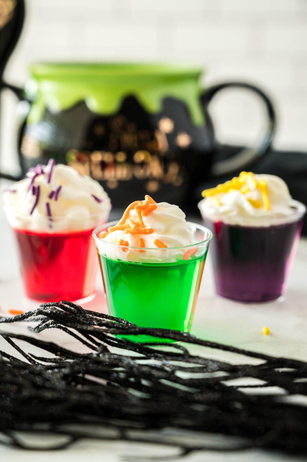 hocus pocus jello shots on a table