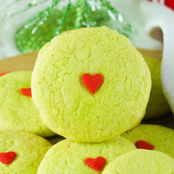 Grinch Cake Mix Cookies