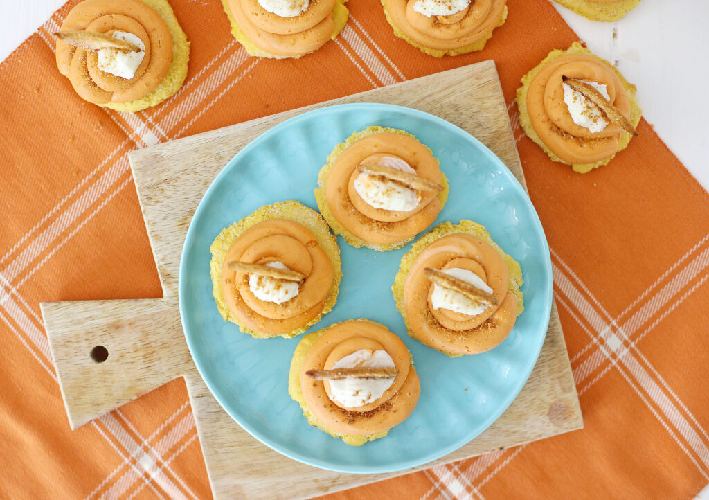 pumpkin pie cookies on a plate